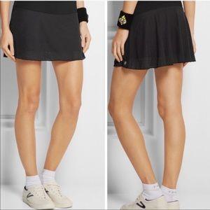 Lija Black Perforated Tennis Skort